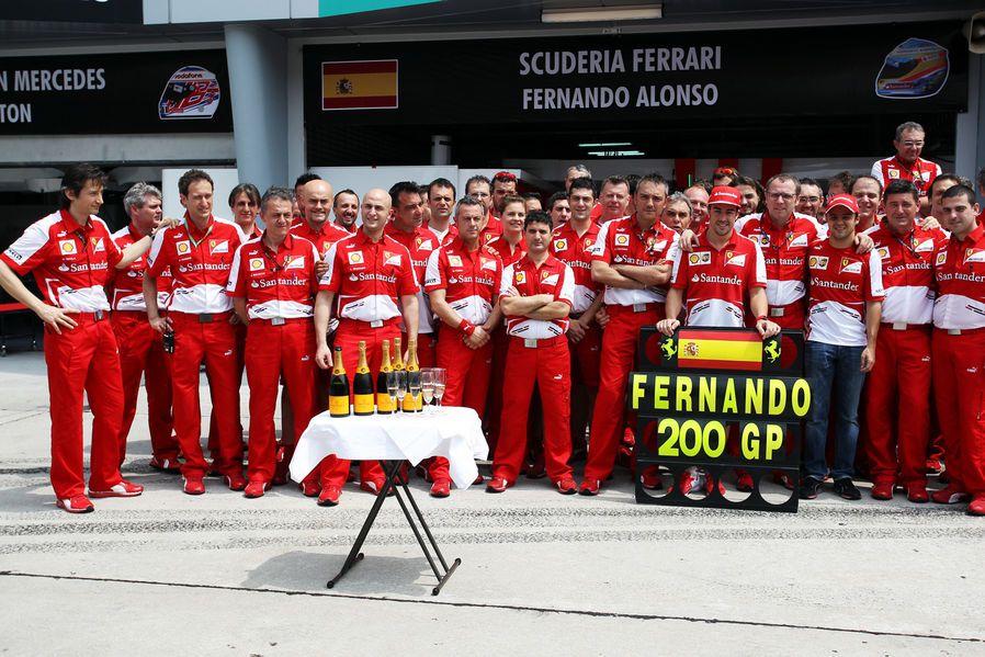 Round 2, Petronas Malaysian Grand Prix 2013, Race, Scuderia Ferrari, Fernando Alonso 200th Grand Prix