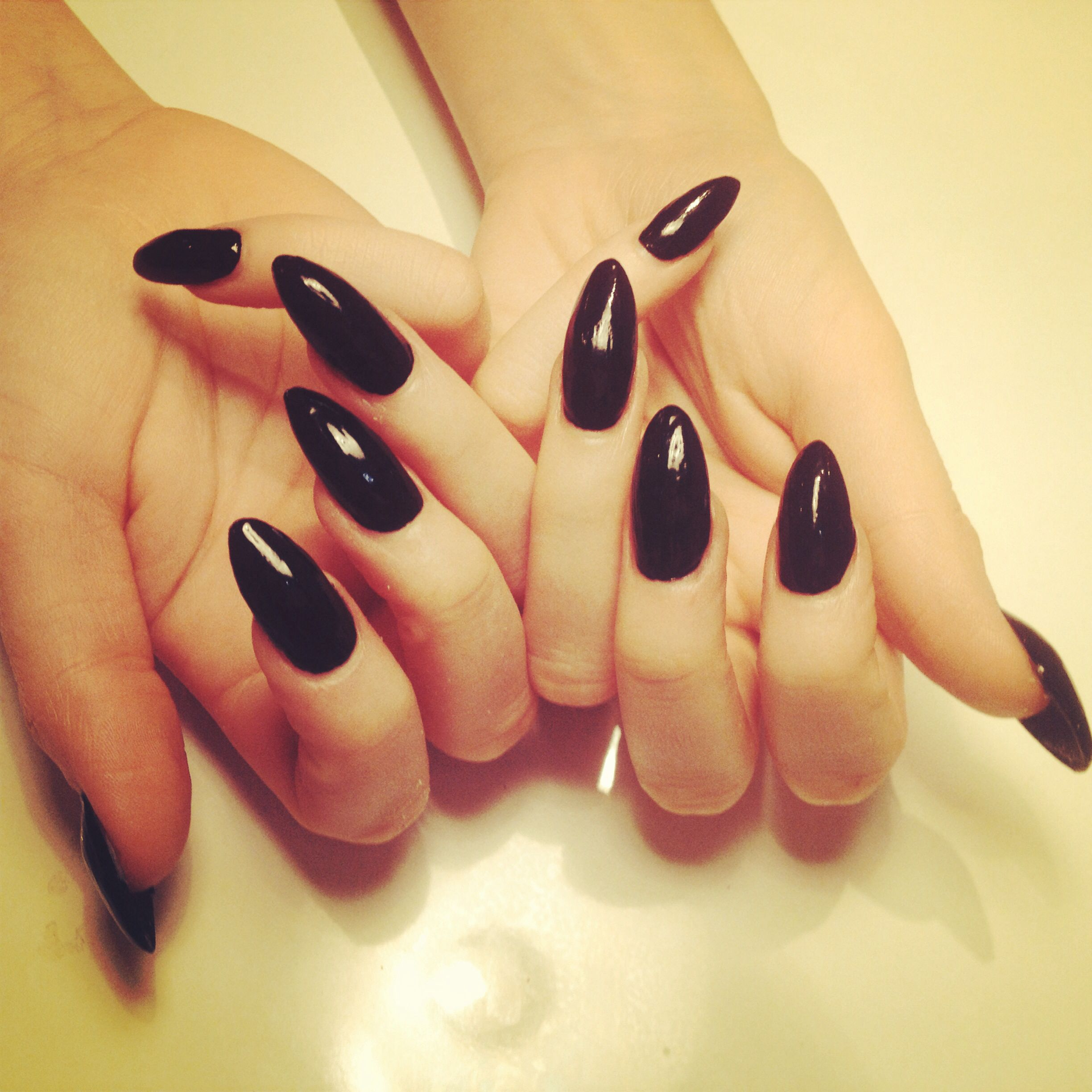 Acrylic Nail Extensions | Black is the new sexy | Pinterest ...