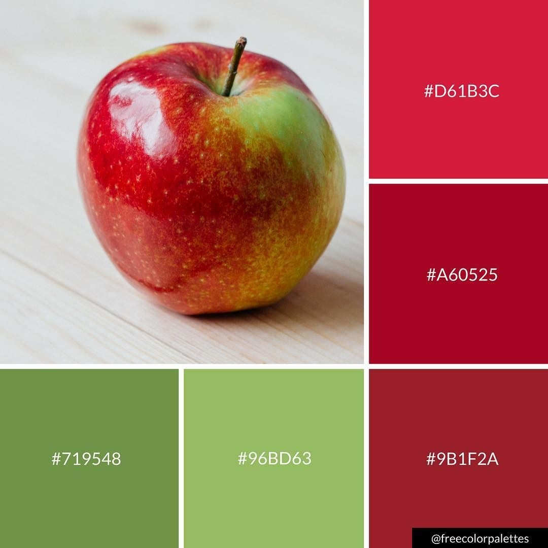Apple Manzana Red And Green Color Palette Inspiration Digital Art Palette And Brand Color Pa Green Colour Palette Paint Color Combos Red Colour Palette