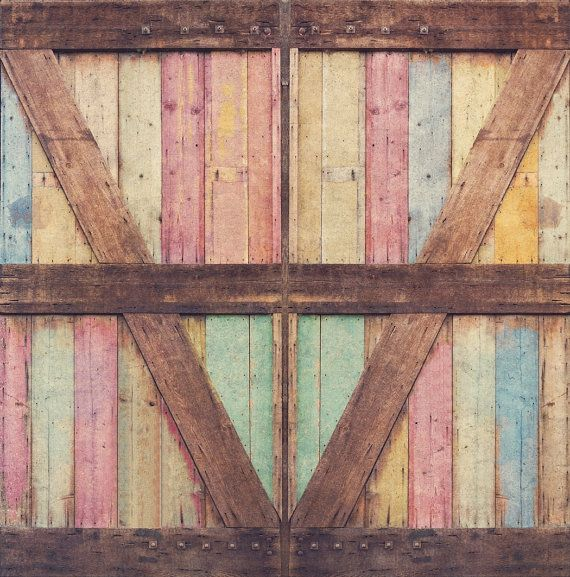 Photography Backdrop Distressed Wood Barn Door Pastel