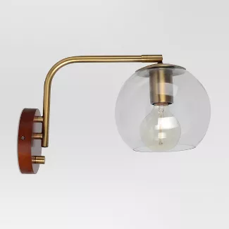 Plug In Wall Lamp Target Globe Wall Light Brass Wall Light