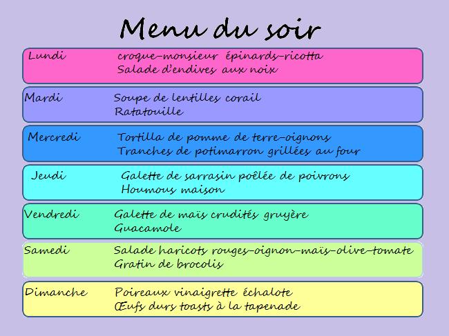 Idée Menu Viande Une semaine de menu  pour le dîner sans viande | Idee menu