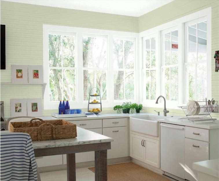 Benjamin Moore Soft Fern Simple Kitchen Remodel Diy Kitchen