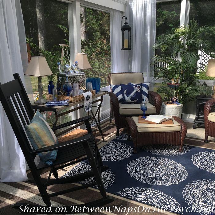 Florida Sunroom Designs: Nautical Decor & Tablescape For A 3-Season Porch