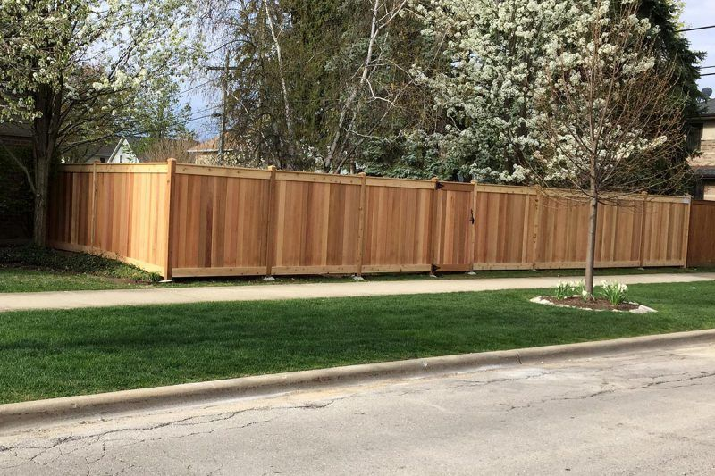 Wood Fence Installation Chicago Residential Wood Fence Company Wood Fence Wood Fence Installation Fence