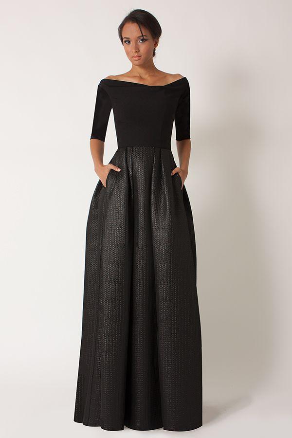 Black Halo - Hayley CB Gown - Sale | Dresses | Pinterest | Designer ...
