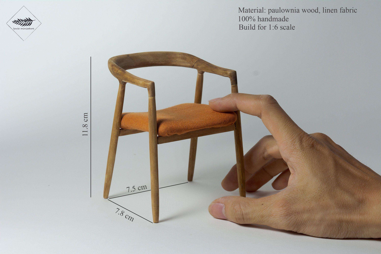 Dollhouse Wood Chair 1 6 Scale Furniture Miniature For Etsy Modern Dollhouse Furniture Wood Chair Miniature Furniture