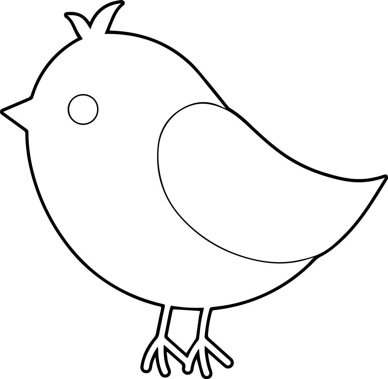 Simple Bird Coloring Page | Preschool Ideas | Pinterest | Bird ...