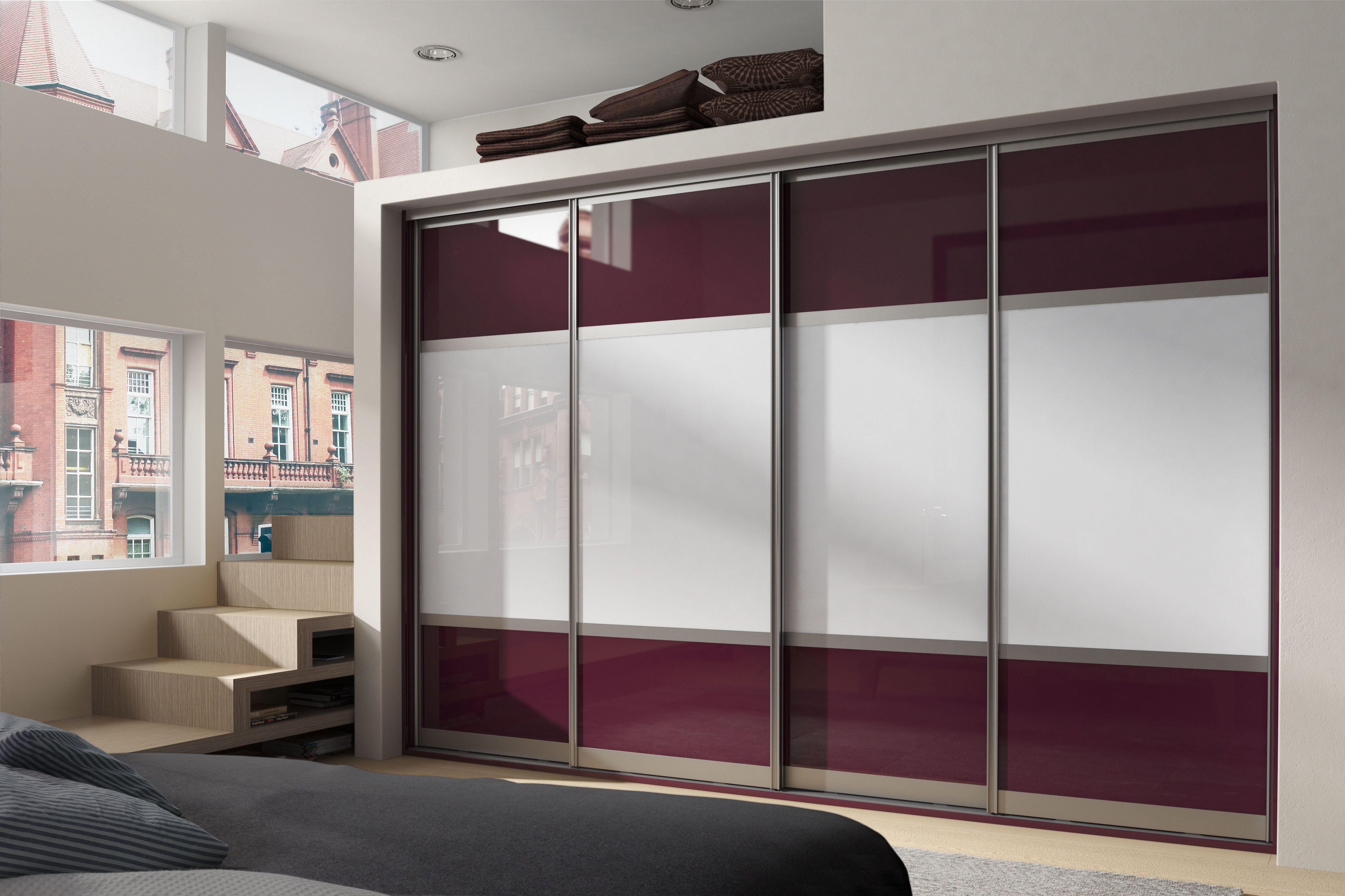 Coloured Accents For Glide Sliding Doors Bedroom Storage
