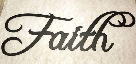 Faith Word Home Decor Metal Wall Art By Jnjmetalworks On Etsy 12 99
