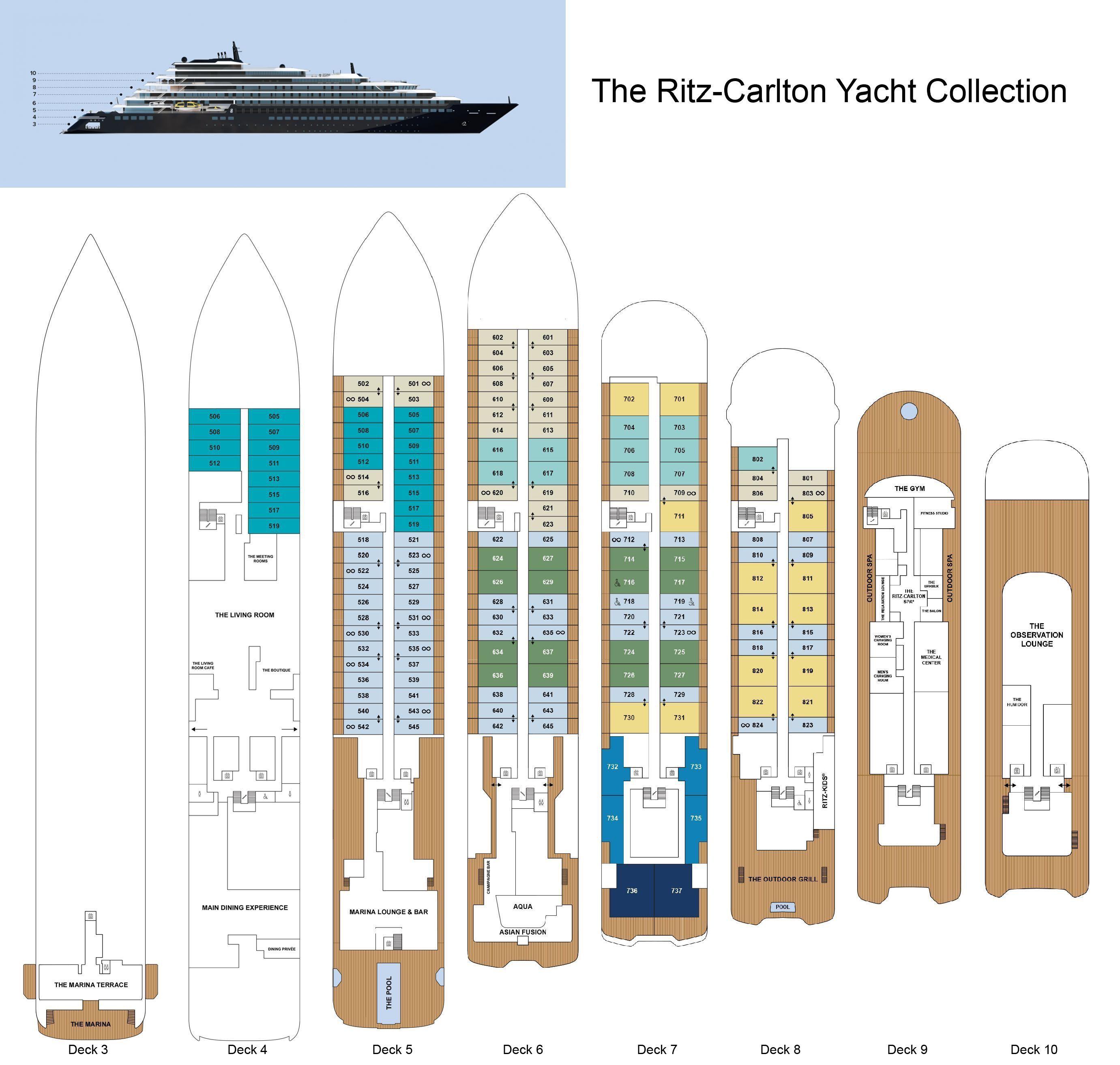 The Ritz Carlton Yacht Collection Deck Plans Ritz Carlton Yacht Design