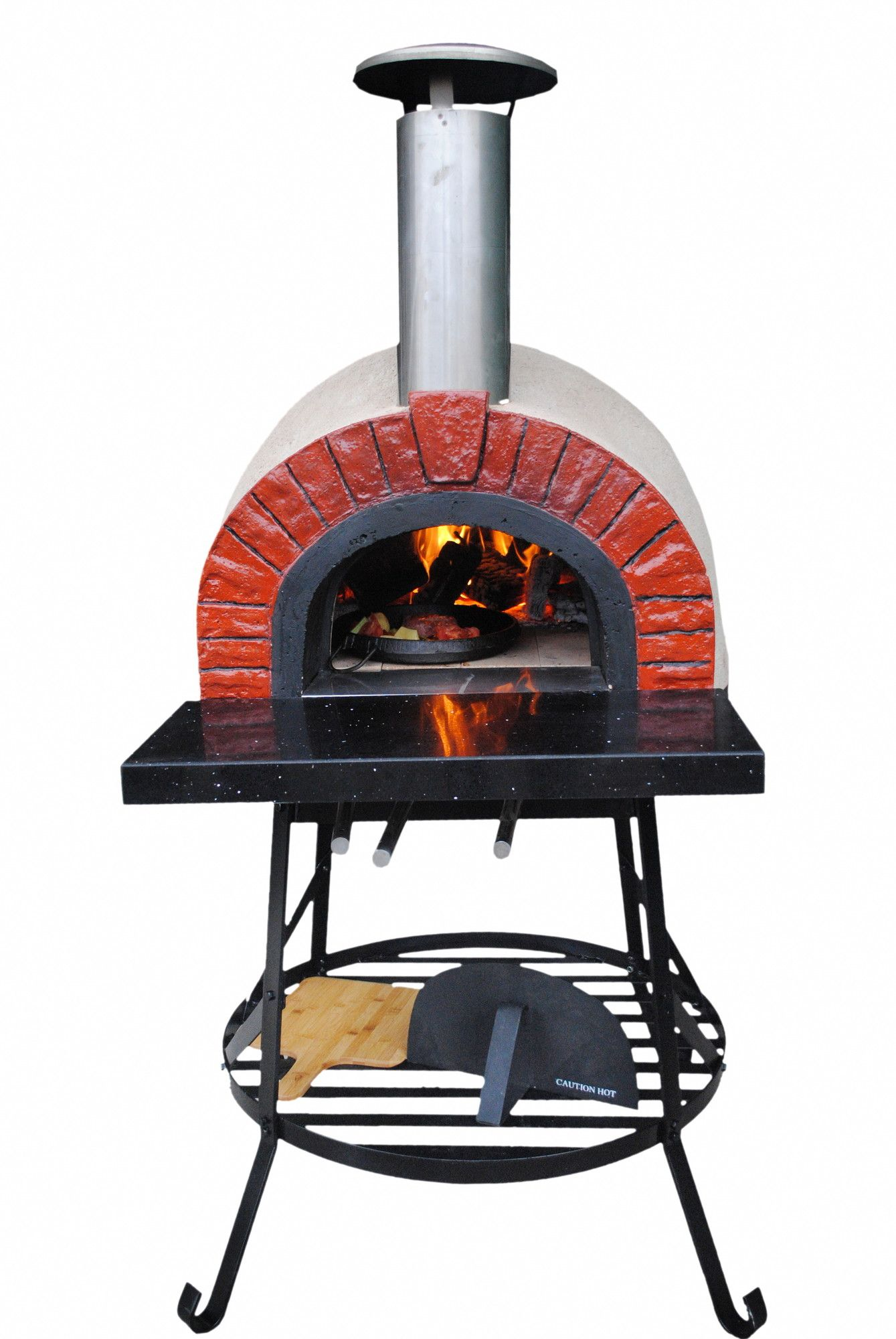 Outdoor Wood Fired Oven With Red Brick Arch For Sale Wayfair