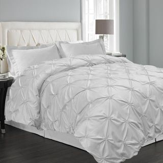 Shop for Floral Pintuck 3-piece Duvet Cover Set. Get free shipping at Overstock.com - Your Online Fashion Bedding Outlet Store! Get 5% in rewards with Club O!