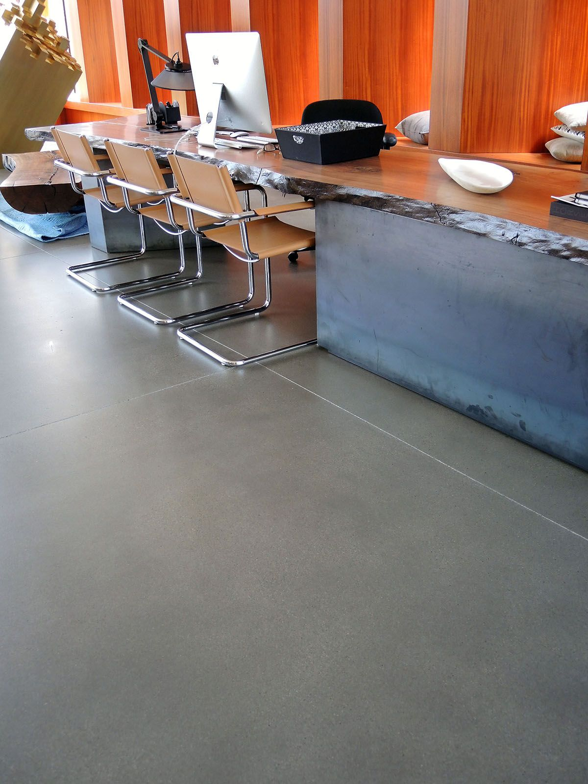 Concrete grinding was used to remove existing failed sealer