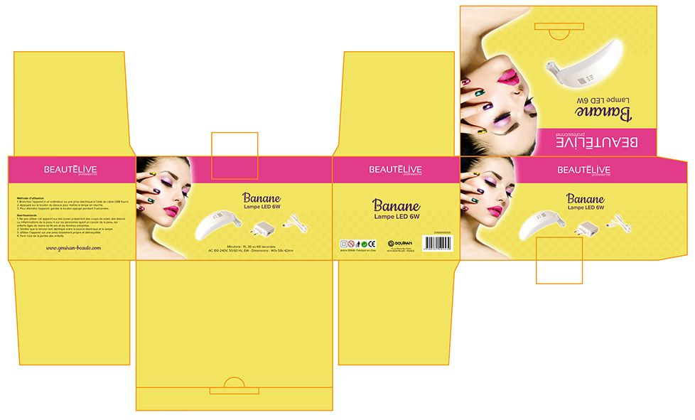 #packaging réalisé par la #graphiste Julie Saba pour Gouiran Beauté