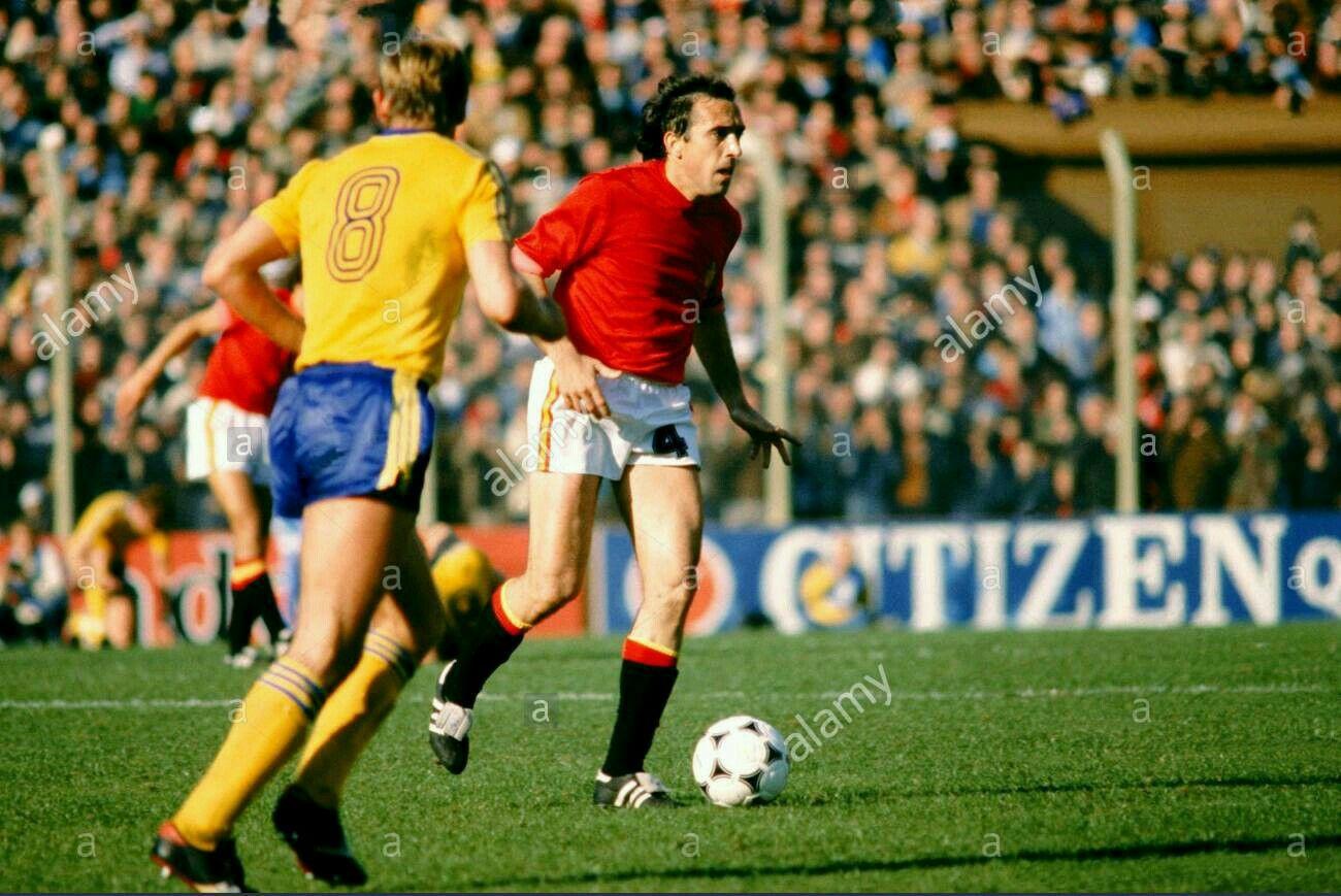 Spain 1 Sweden 0 in 1978 in Buenos Aires. Juan Manuel