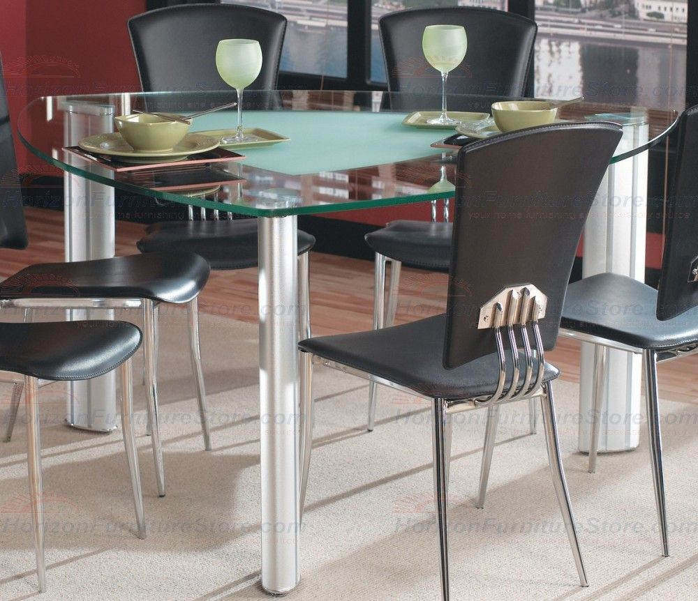Triangle glass kitchen table