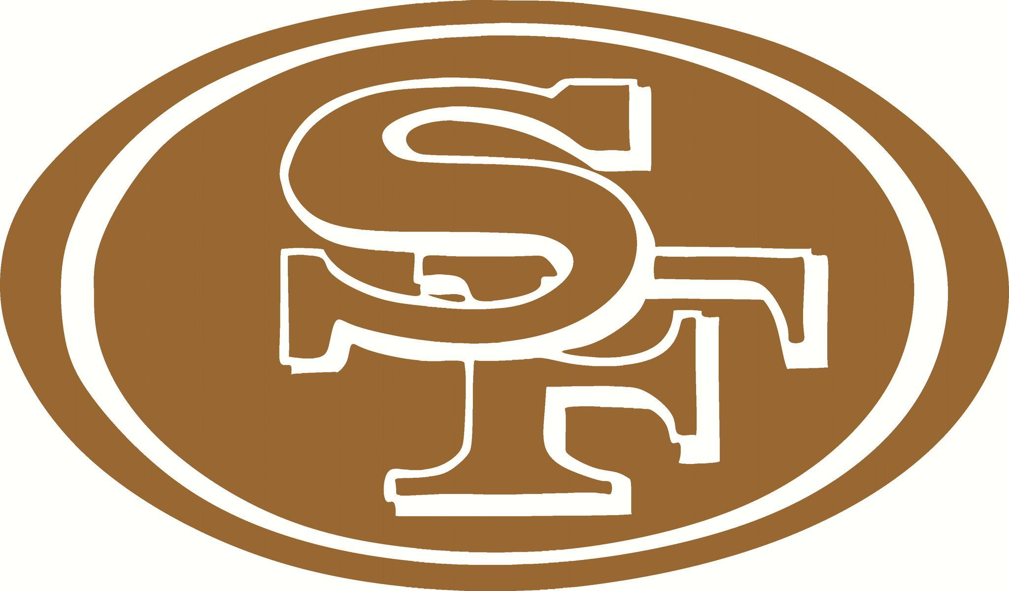San Francisco 49ers Logo Vinyl Cut Out Decal Choose Your