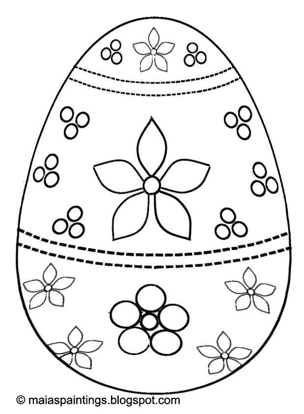 Easter egg-coloring page for kids- egg painting model | Easter ...