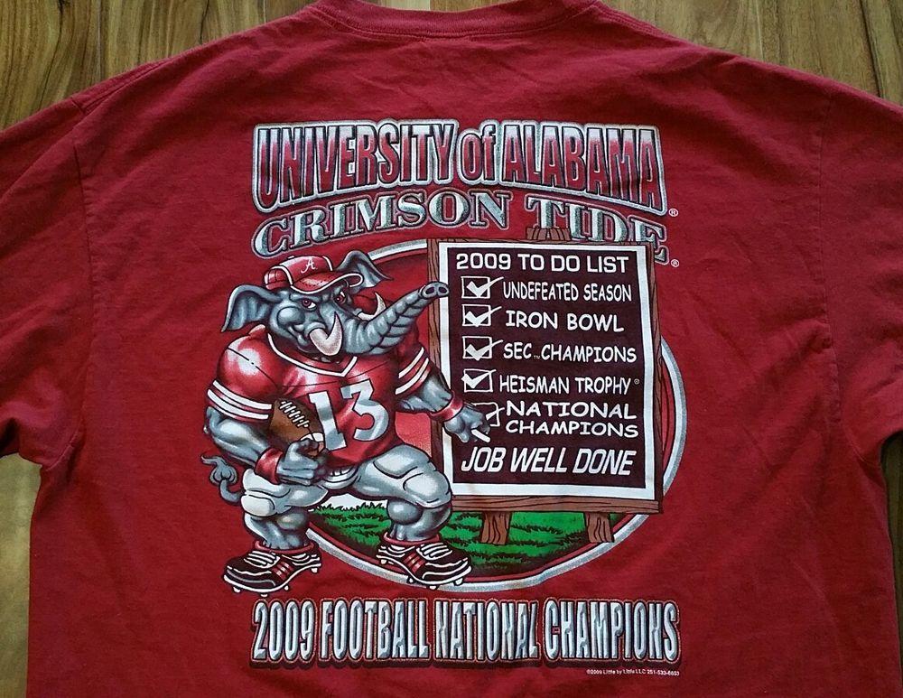 Alabama crimson tide 2009 football national champions long
