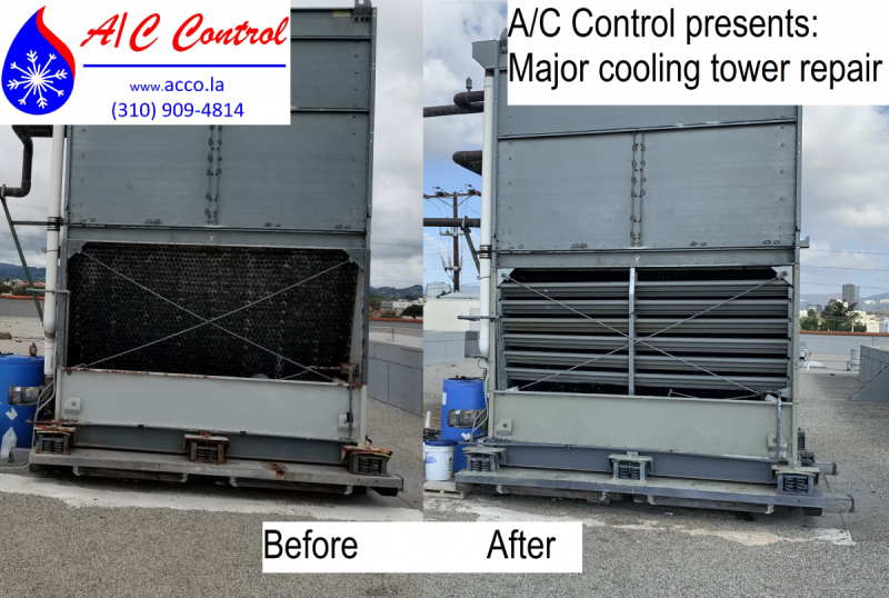 A C Control Completed A Major Cooling Tower Repair Air Conditioning Repair Acrepair Airconditionerrep With Images Air Conditioner Repair Repair Air