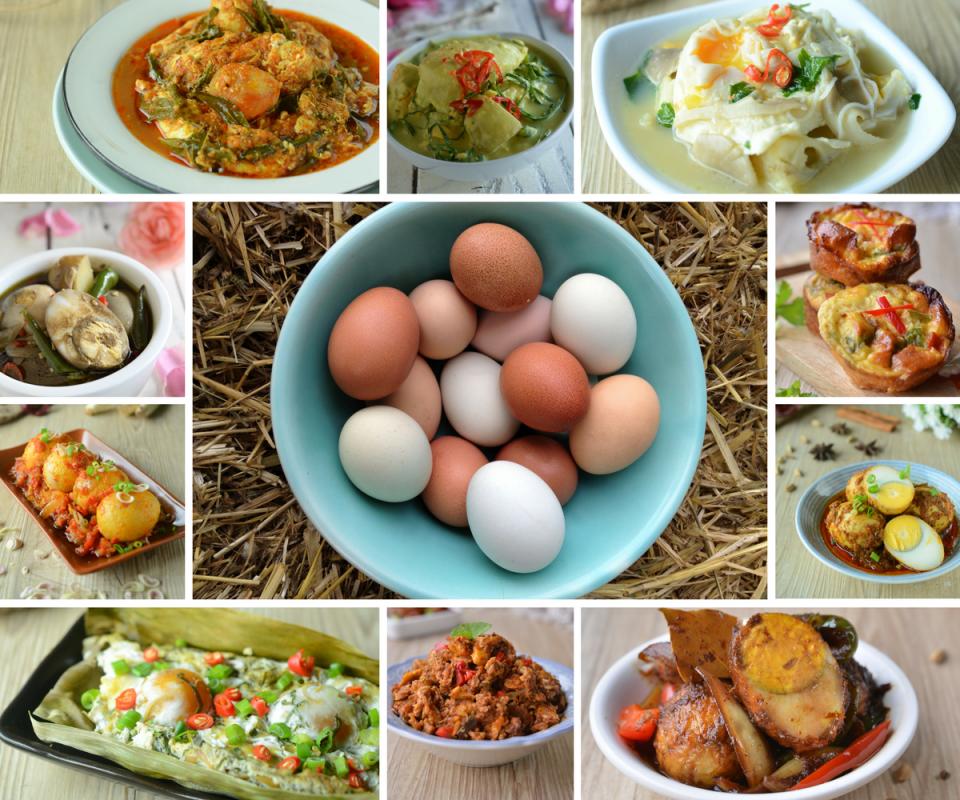 Idea Masakan Lauk Pauk Berasaskan Telur Ayam, Telur Itik