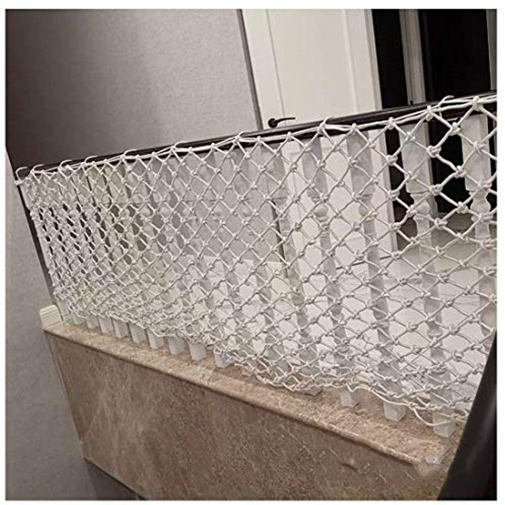 Filet De Decor Protection Cloture Escalade Tresse Corde Camion Cargo Remorque Filet Maille Blanc Pour Balcon Balus Balustrade Escalier Balustrades Tresse Corde
