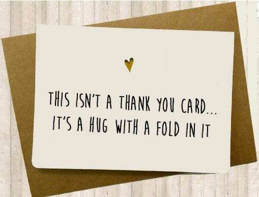 Funny Thank You Card card ideers Pinterest Etsy, Cards and