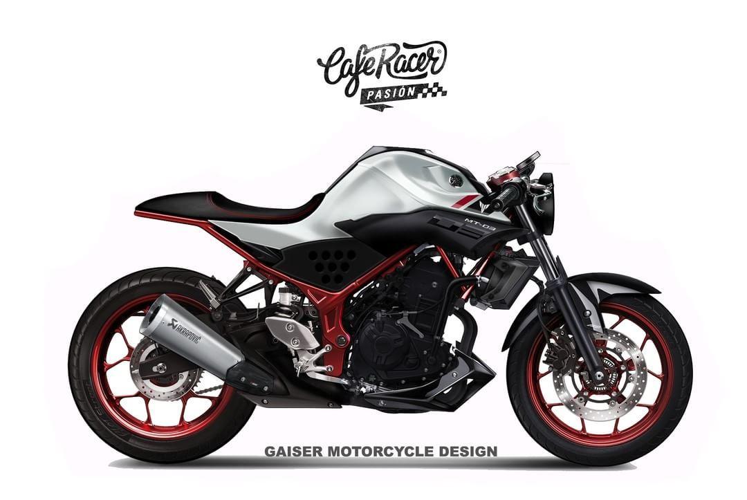 yamaha mt-03 cafe racer - gaiser motorcycles design #motorcycles