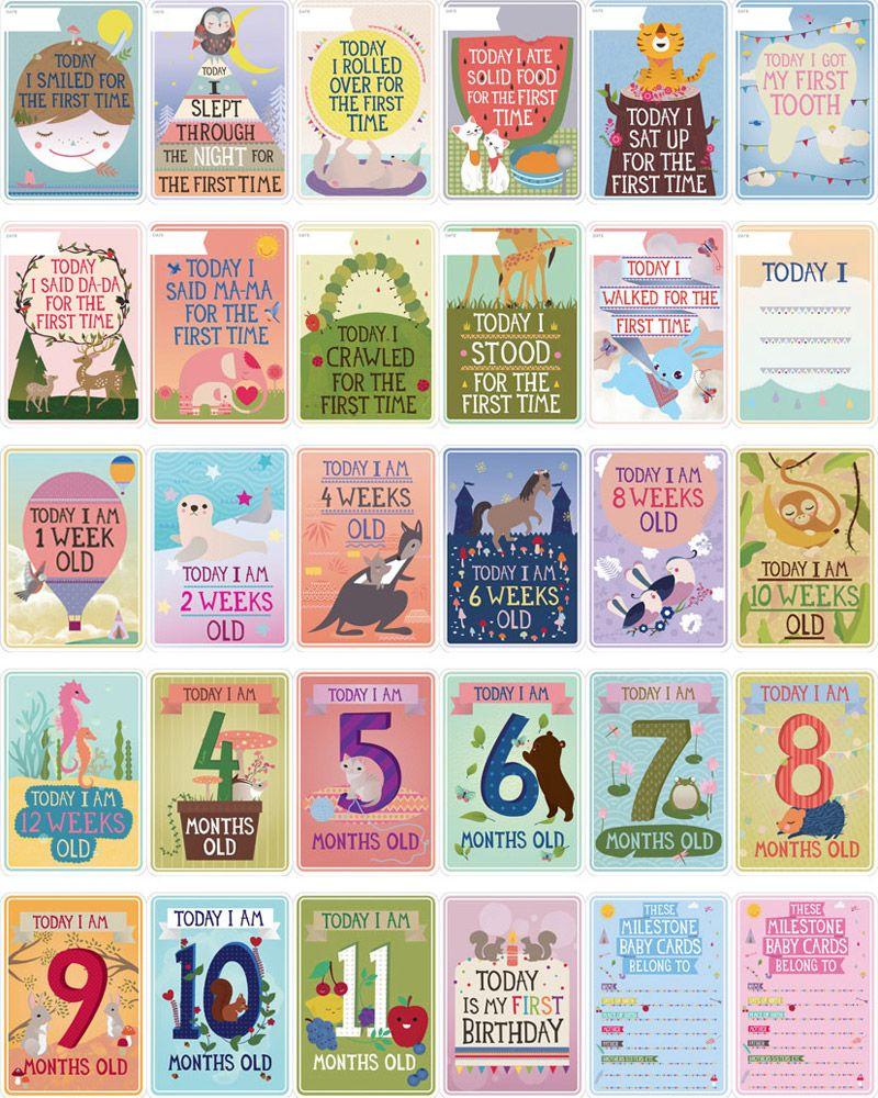 Milestone Baby Cards Baby milestone cards, Milestone