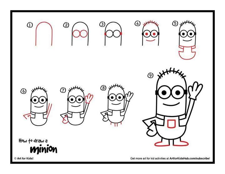 Como Dibujar Un Minion Dibujos Faciles Para Ninos Dibujos Para Ninos Como Dibujar Un Minion