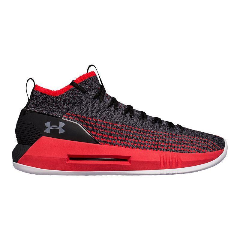 51f37e60f7902 Under Armour Men s Heat Seeker Basketball Shoes - Black Pierce Grey ...