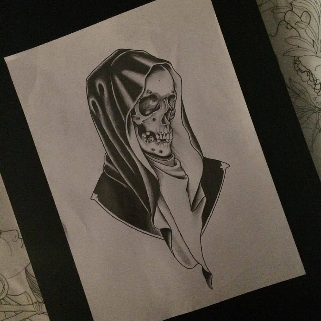 Traditional Style Neo Traditional Grim Reaper Tattoo