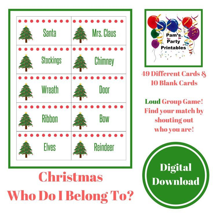 fun and easy game family friendly group game to find your match icebreaker familygamenight christmas christmasgame partyideas pinterest party - Christmas Games For Groups
