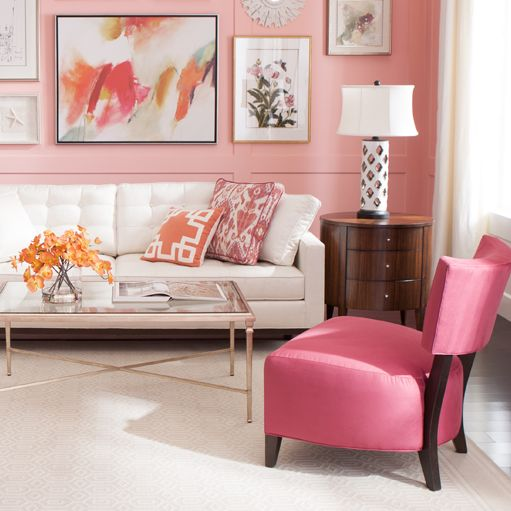 Coral Crush Living Room - without the pink wall   Living Room ...