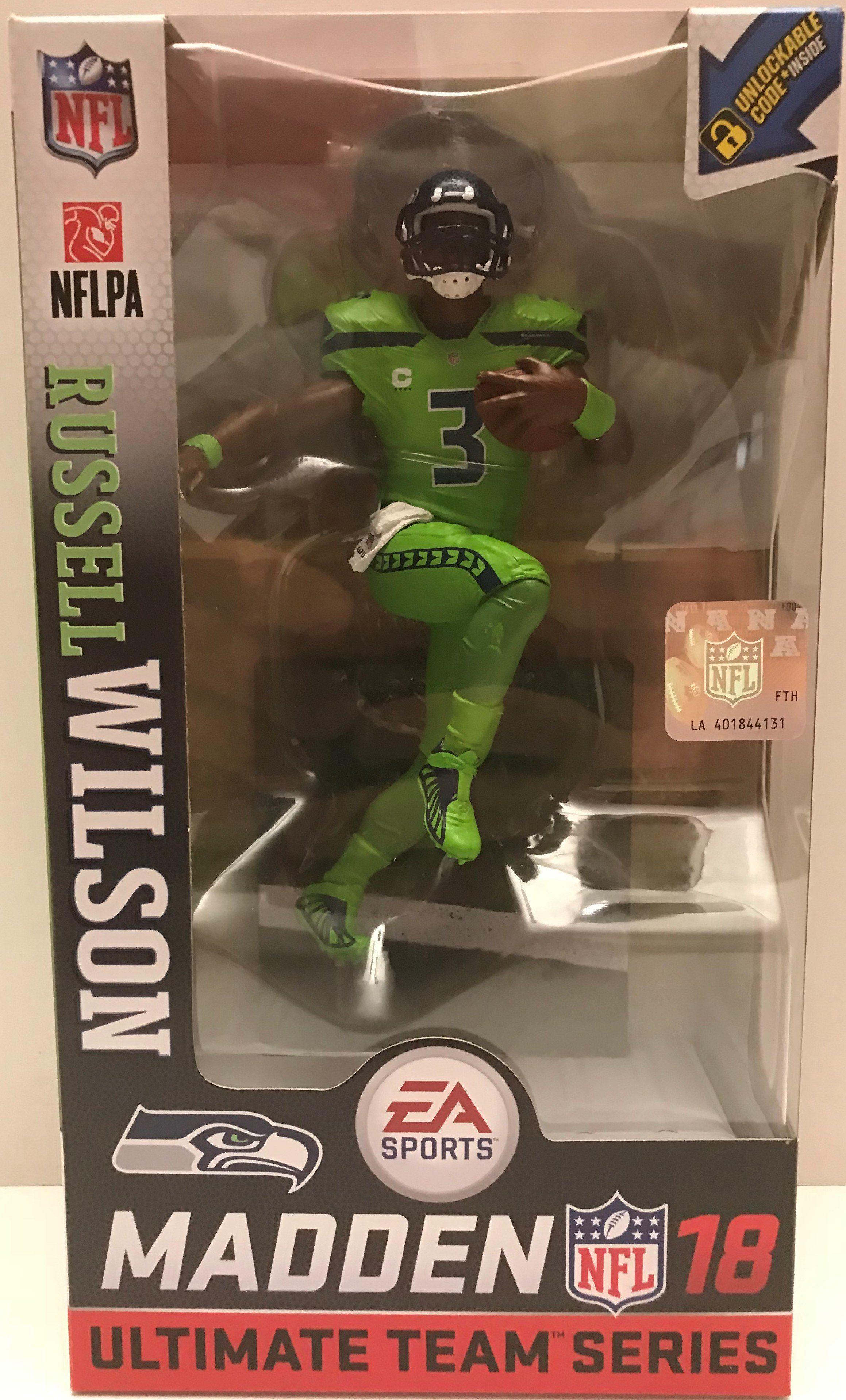 Madden NFL 18 Ultimate Team Series 1 McFarlane Russell Wilson Seattle Seahawks