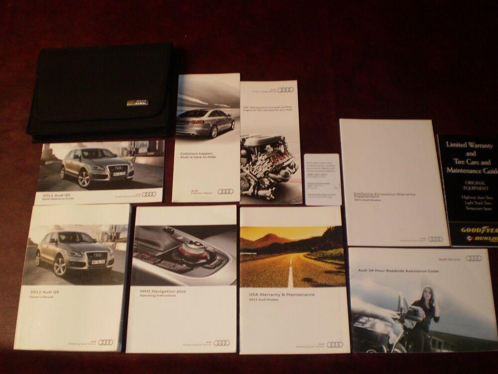 Ebay Sponsored 2012 12 Audi Q5 Complete Suv Owners Manual Books Navigation Guide Case All Model Car Owners Manuals Miata Car Suv