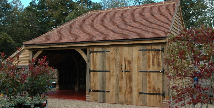 Solid Oak Garages and Car Ports, London and Home Counties