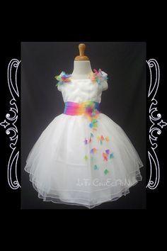 Rainbow Flower Girl Dress Rainbow Wedding Dress Wedding Flower