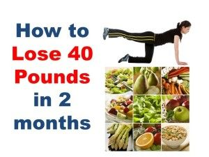 how to lose 40 kg in 4 months