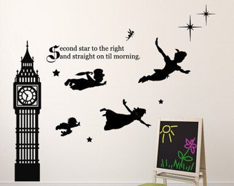 Peter Pan Wall Decal Vinyl Art Stickers For Kids Room, Playroom, Boys Room,  Girls Room   Second Star Part 16