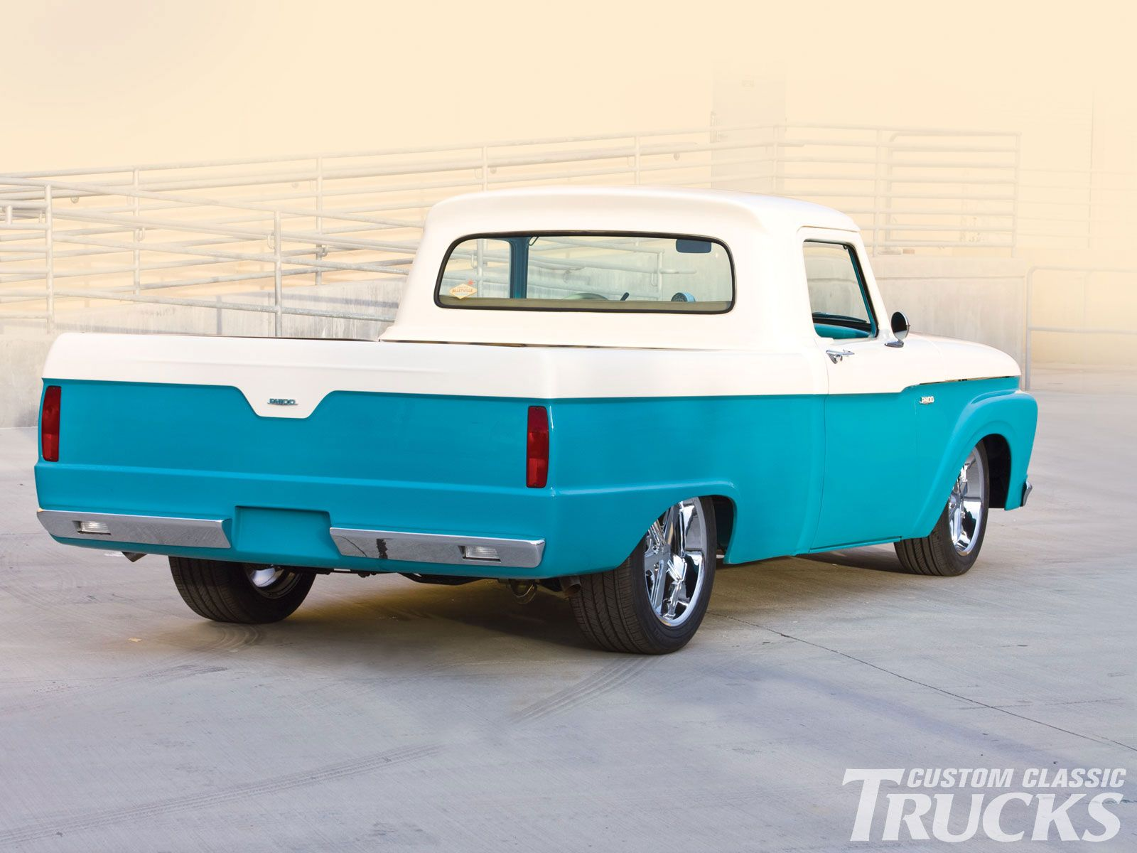 1964 Ford F100 Rear Photo 1 Blue Oval 64 To 66 Truck Panel Ranger
