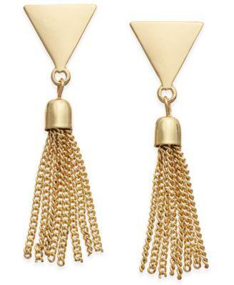 INC International Concepts Gold-Tone Fringe Stud Earrings, Only at Macy's   macys.com