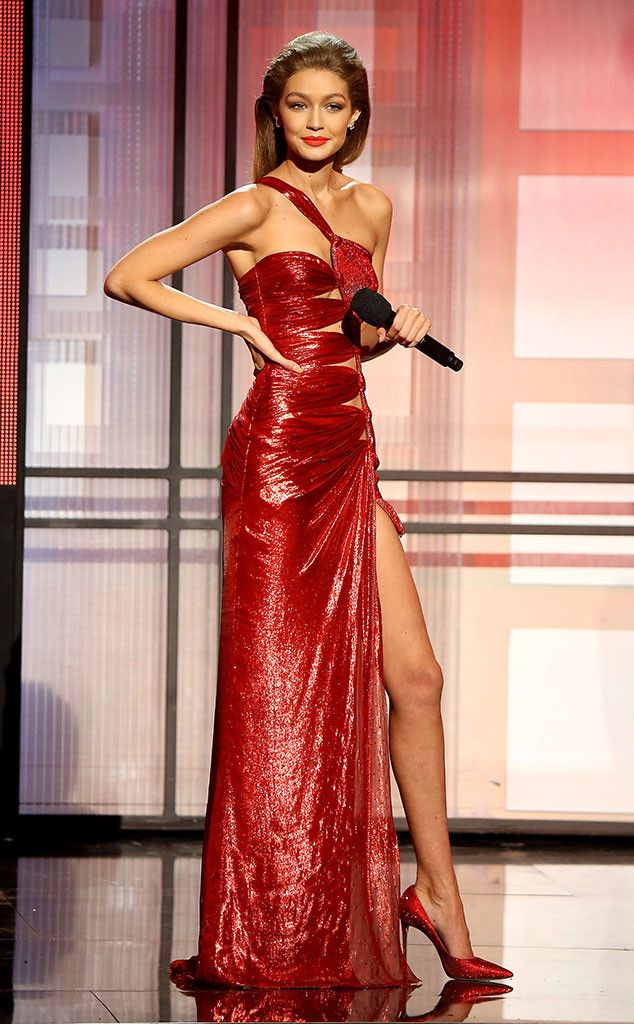 c70b83fa52 Gigi Hadid s AMAs Outfit Changes Deserve an Award of Their Own