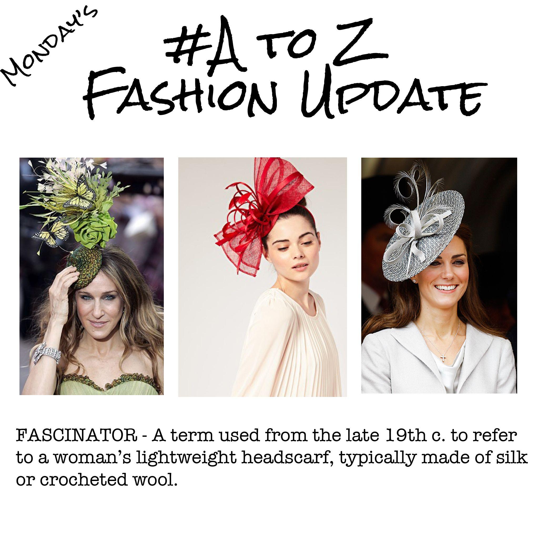 A-Z Fashion Update - Fascinator