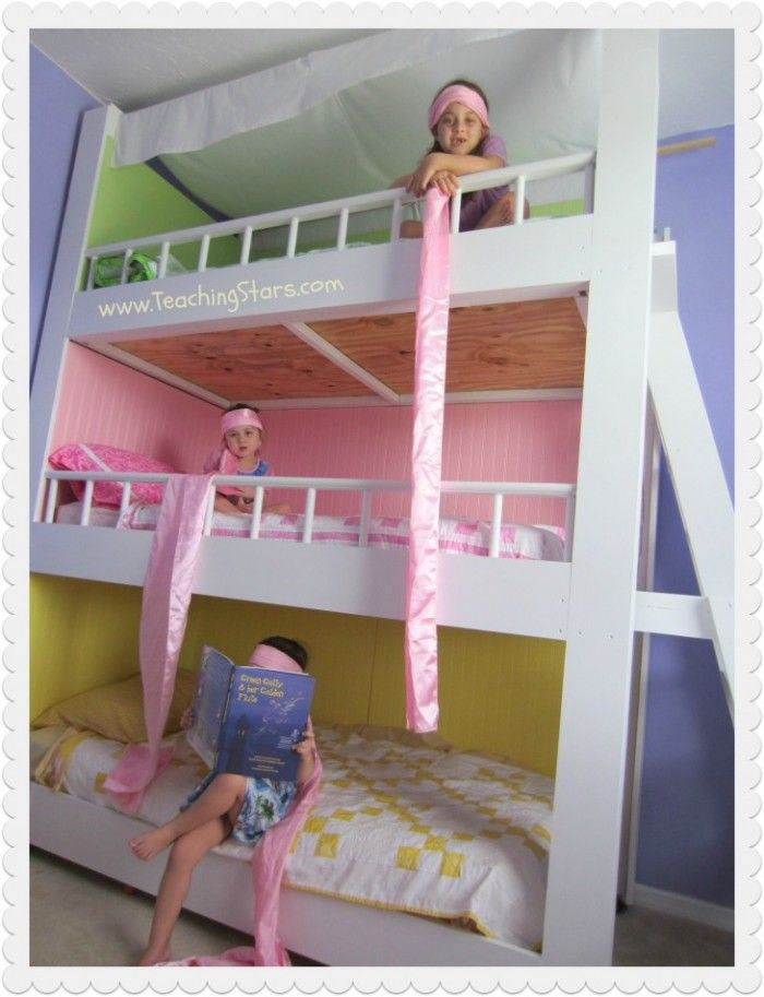 Merveilleux Accessories U0026 Furniture,Dazzle Bedroom For Childrens With Colorful Coloru2026 Bunk  Bed DesignsTriple ...