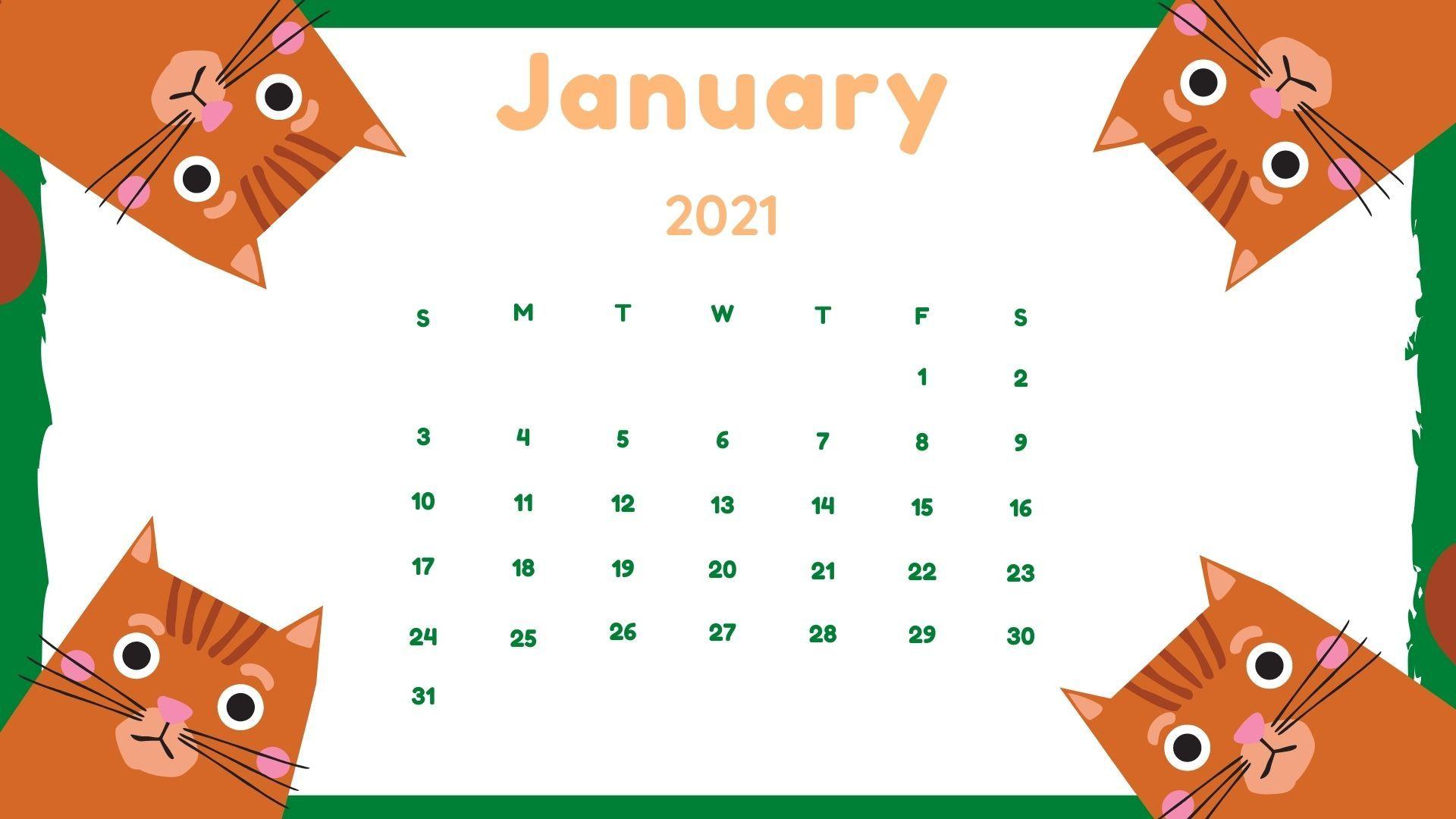 Free Download January 2021 Hd Calendar Wallpaper In 2021 Free Printable Calendar Templates Calendar Wallpaper Cute Calendar