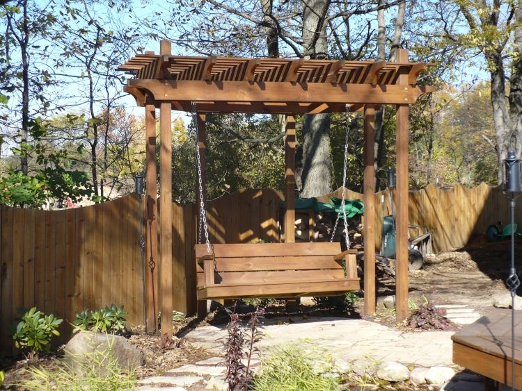 Arbor Swing Frame Decks By Design Of Indiana Picture