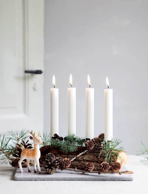 Christmas Candle Decoration Ideas For 2019 Christmas Candle Decorations Christmas Advent Wreath Advent Decorations