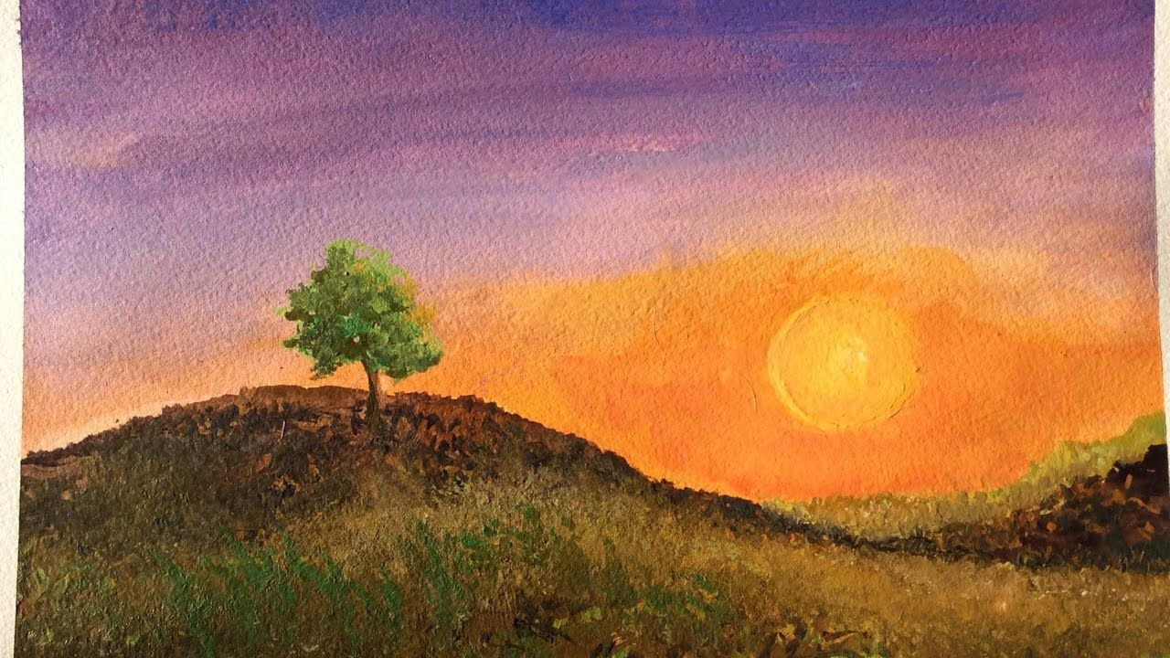 Sunset Sky Egg Tempera Tutorial Easy Step By Step Painting
